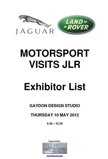 Motorsport Showcase Exhibitor List