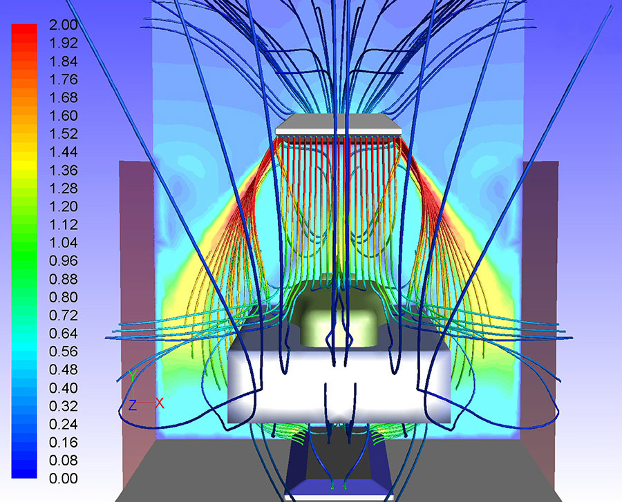 Air curtain CFD
