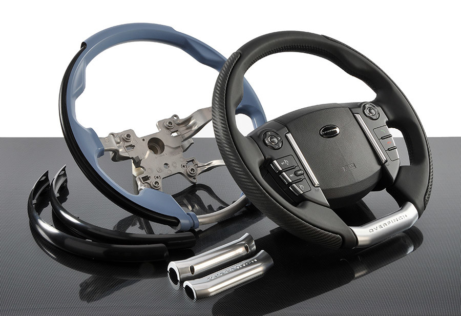 Automotive steering wheel mouldings