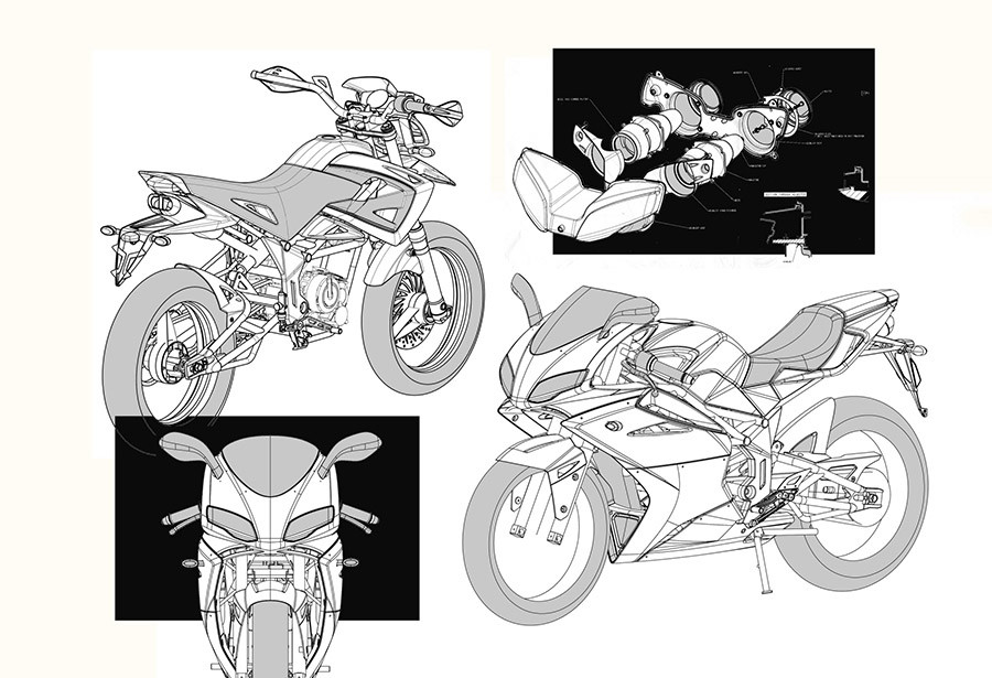 Motorcycle chassis engineering